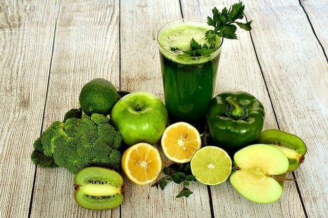 succo di frutta e verdura verde