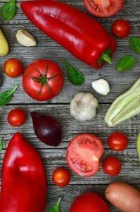 peperoni, pomodori