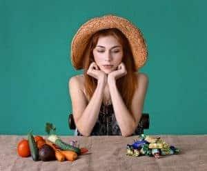 la scelta tra dolci e verdure