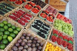mercato della frutta e della verdura