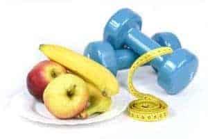 pesi, mele, banane