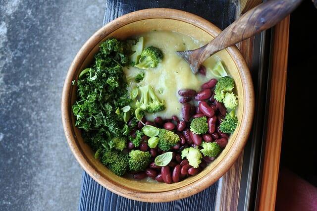 brokuły, fasola, zdrowa żywność