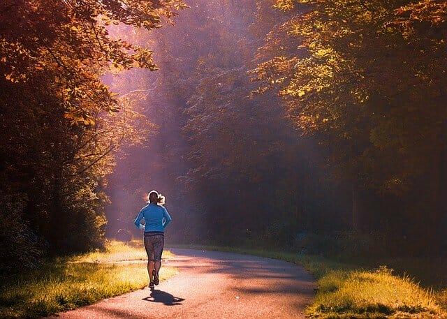 correre, correre nel parco