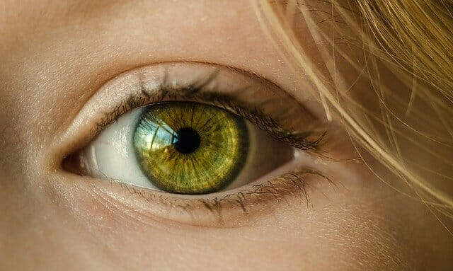 L'occhio di una donna